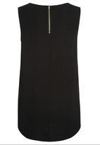 Next - Woven vest in print Black