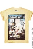 Next - LA Print T-shirt Yellow