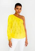 ONLY - Sabah One Shoulder Top Yellow