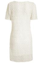 Next - Crochet tunic in stone Stone/Beige