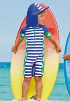 Next - Sunsafe Suit And Hat Set Green