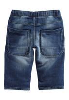 Next - Denim Look Shorts Dark Blue