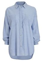 Next - Oversized casual shirt pale blue