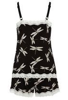 Next - Dragonfly printed set Black/White