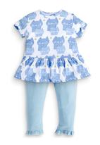 Next - Cat Tunic And Leggings Set Blue/White