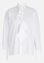 Chulaap - Shirt with Tie Detail White