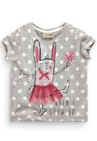 Next - Ballet Bunny T-shirt Pale Grey