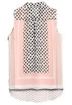 Next - Printed sleeveless shirt pale Pink