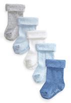 Next - Boys Roll Top Socks Five Pack Pale Blue