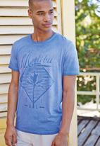 Next - Malibu Print T-Shirt Mid Blue