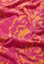 Next - Floral v-neck t-shirt Pink