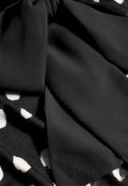 Next - Tie Neck Shell Top Black