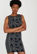 ONLY - Panel Fitted Knit Dress Navy