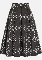 Chulaap - Diamond Print 50s Skirt Black and White