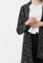 MANGO - Speckled Knit Jacket Dark Grey