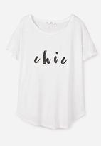 MANGO - Glitter Print T-shirt White