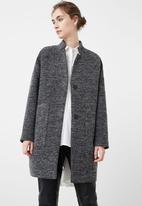 MANGO - Over-size Long Sleeve Coat Dark Grey