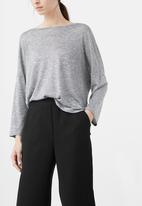 MANGO - Straight-cut Cropped Trousers Black