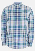 Tommy Hilfiger - Cotton Linen Radiant Check Shirt Blue