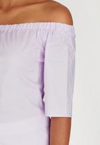 Closet London - Off-the-shoulder Top Pale Pink