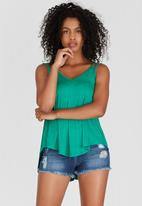 c(inch) - Double Strap Cami Green
