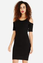 ONLY - Cold Shoulder Bodycon Dress Black