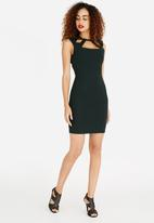 ONLY - Cut-Out Detail Bodycon Dress Green