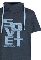 SOVIET - Printed Snood  Tee Blue