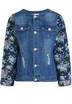 POP CANDY - Girls Denim Jacket Mid Blue