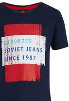 SOVIET - Printed Tee Blue