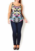City Chic - Geometric-print cami Multi-colour