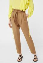 MANGO - Soft Cord Trousers Camel