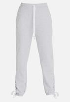 STYLE REPUBLIC - Lace-up Jogger Grey Melange