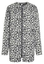 Next - Collarless Coat Animal Print