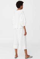 MANGO - Puffed Sleeve Top White