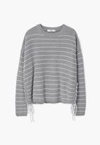 MANGO - Braided Cord Jersey Grey