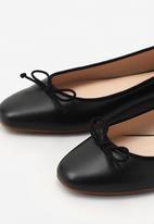 MANGO - Bow Ballerina Flats Black