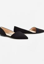 MANGO - Asymmetric Design Flats Black