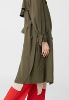MANGO - Trench Coat Khaki Green