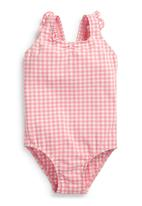 Next - Gingham Swimsuit Pale Pink