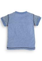 Next - Short-sleeve dad T-shirt Mid blue