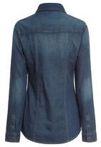Next - Denim Shirt Dark Blue