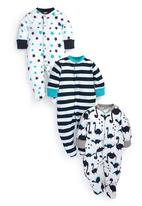 Next - All-Over Print Dinosour Sleepsuits 3-Pack Multi-Colour
