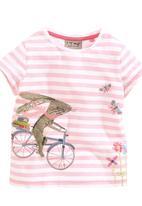 Next - Bloom Stripe Bunny T-Shirt Pale Pink