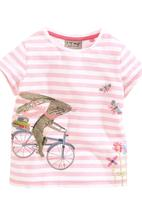 Next - Bloom Stripe Bunny T-Shirt Pale Pink