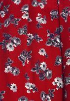 Next - Floral printed top Red