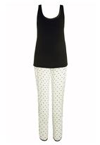 Next - Polka dot pyjamas Black/White