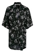 Next - Tulip-print robe Black/White