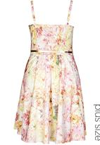 City Chic - Soft floral dress Yellow/ White