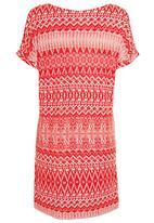 Next - Folk print tunic Red